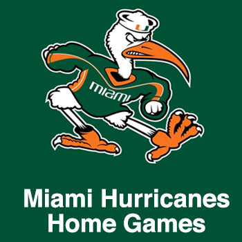 Fly banners over Miami Hurricanes